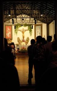 Mass for the virgin of la Punta, la palma