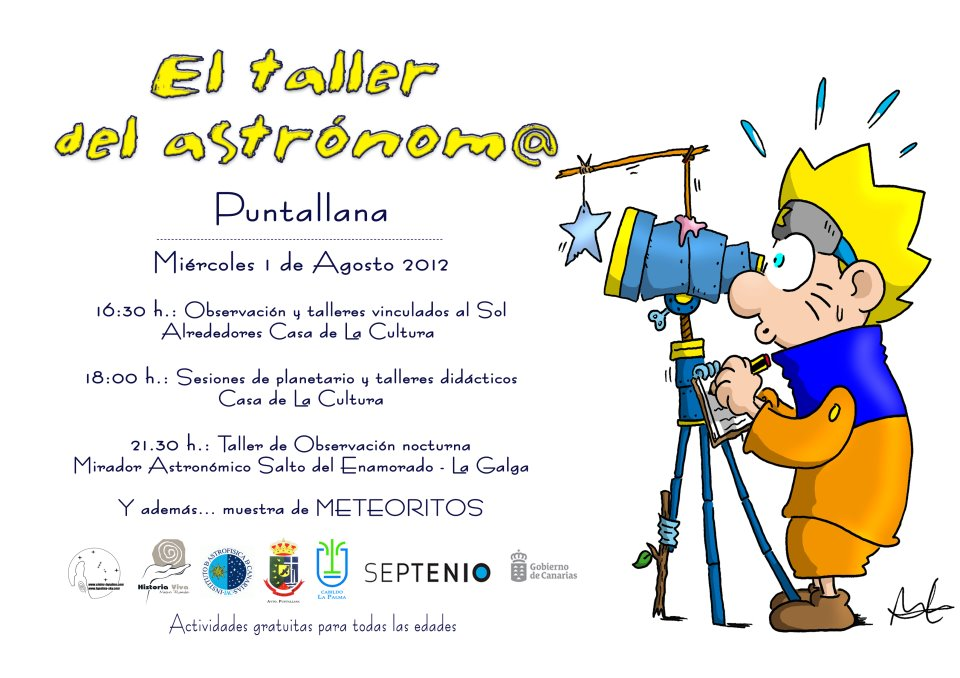 Astronomy workshop in Puntallana on Wednesday