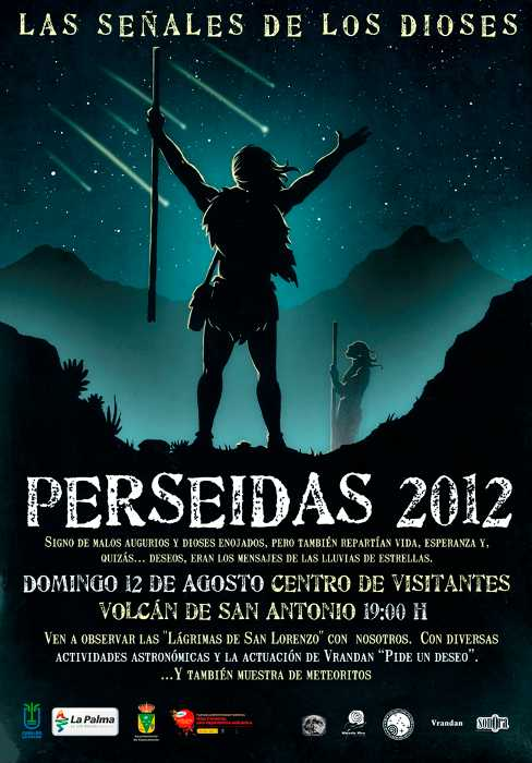 Poster for the Perseid's activity, Fuencaliente, August 12th 2012