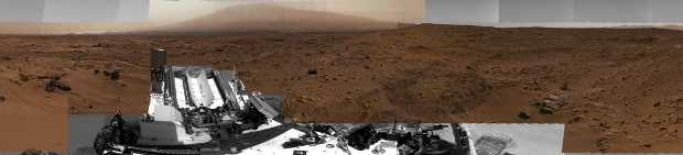 images taken by NASA's Curiosity Mars rover.