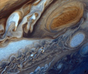 Jupiter's Great Red Spot photographed by Voyager 1