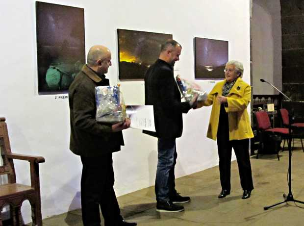 The winners of the La Palma astrophotography competition getting their prizes in the island's museum