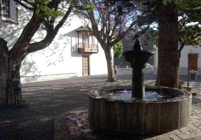 The fountain outside Las Nieves church, Santa Cruz de la Palma