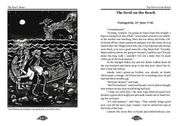 The beginning of 'The Devil on the Beach'