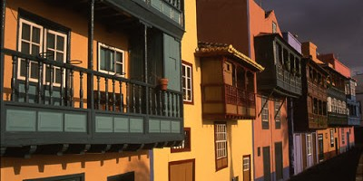 The famous balconies in Santa Cruz de La Palma