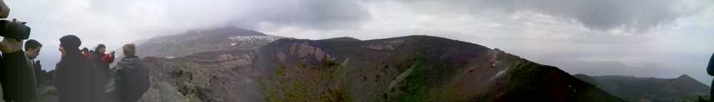 Panorama looking north from the crater of San Antonio volcano, Fuencaliente