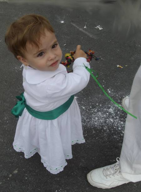 Little Girl dressed up for Los Indianos, Santa Cruz de la Palma