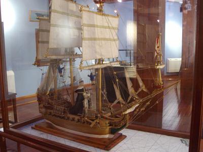 Model ship in the naval museumSanta Cruz de La Palma
