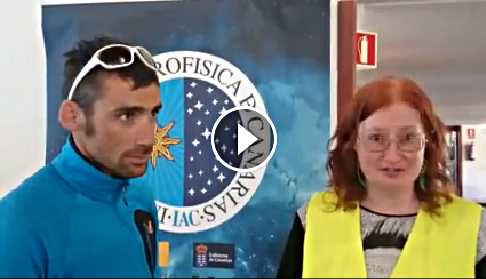 Video of Sheila Crosby with Luis Alberto Hernando discussing astrophysics