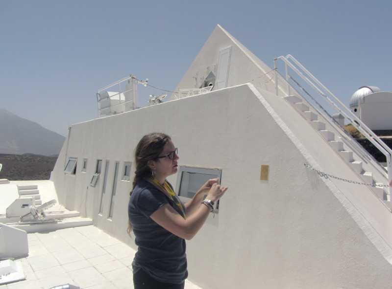 The pyramid solar laboratory, Teide Observatory, Izana, Tenerife