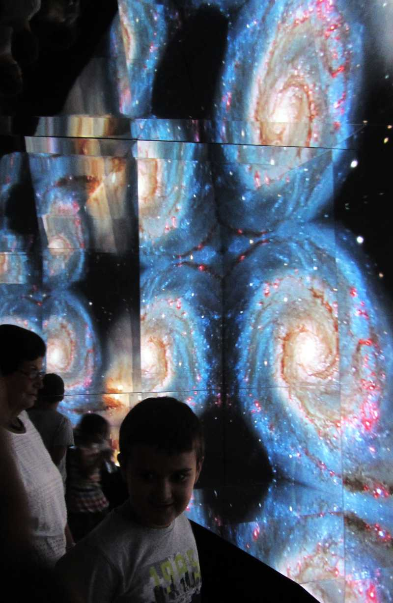 Looking at galaxies inside the kaleidoscope, IAC exhibition, Santa Cruz de La Palma