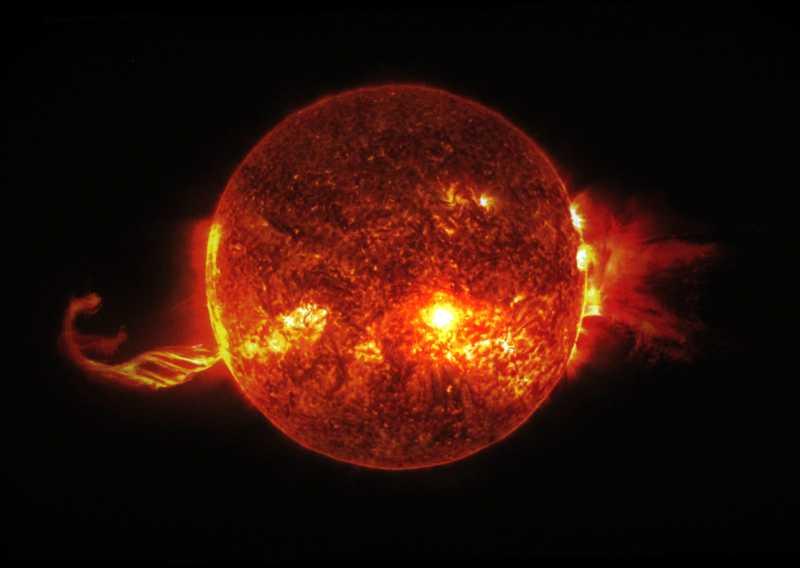 The sun, IAC exhibition, Santa Cruz de La Palma