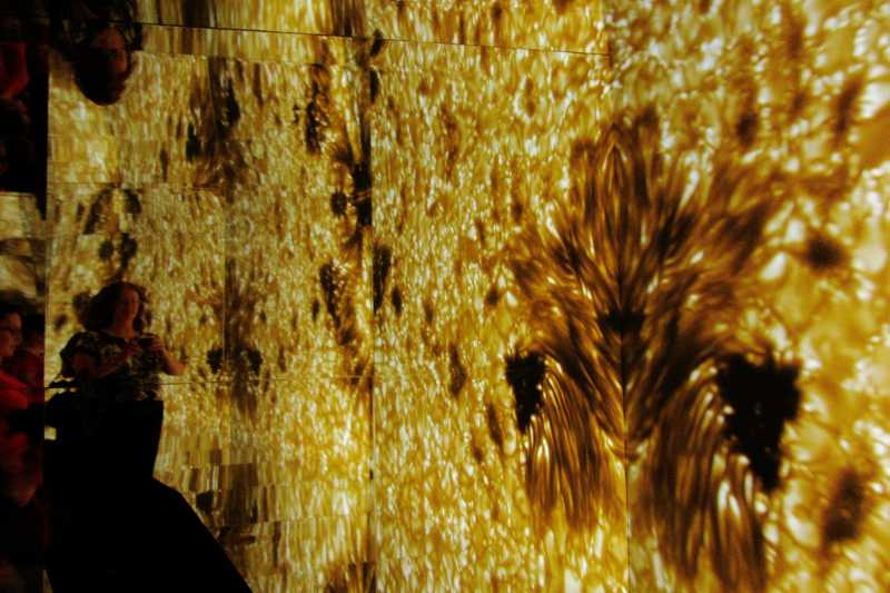 Looking at the surface of the sun inside the giant kaleidoscope, IAC exhibition, Santa Cruz de La Palma