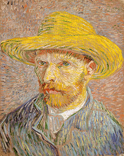 Van Gogh self portrait.