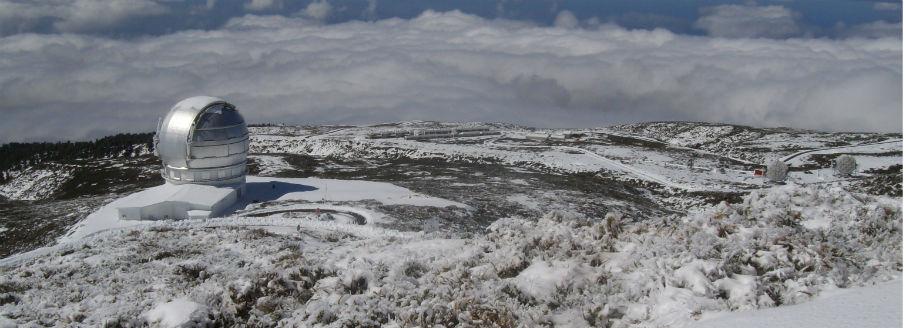 Gran Telescopio Canarias in the snow