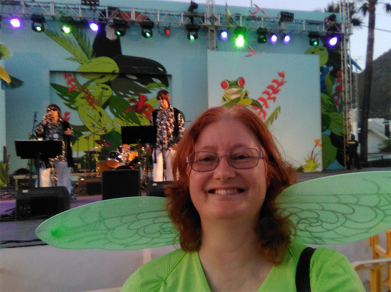 Me at the Guateke concert in Los Llanos de Aridane