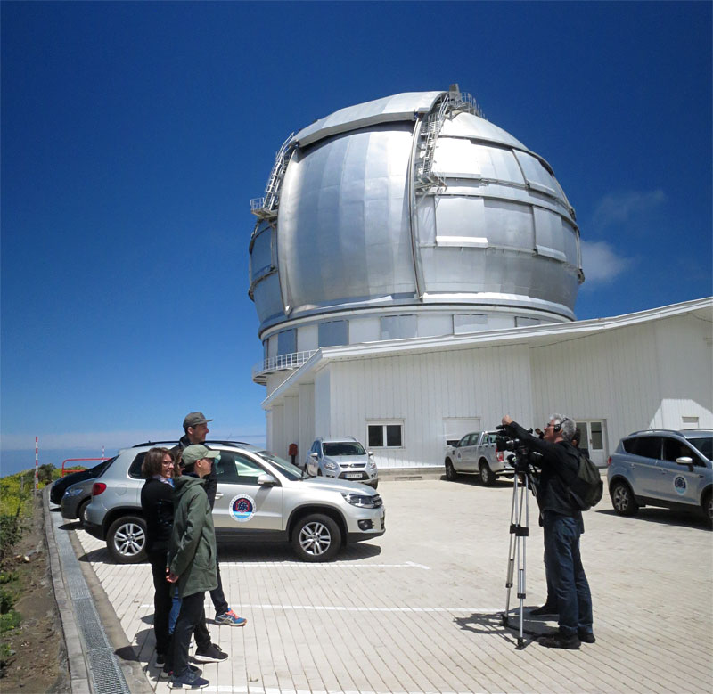 TV Interviews outside Gran Telescopio Canarias, Roque de Los Muchachos, La Palma