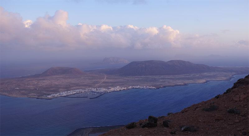 The little island of La Graciosa, seen from near the Mirador del Rio, Lanzarote