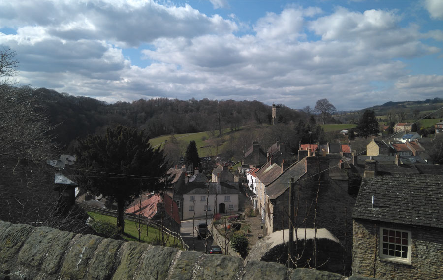 Richmond,North Yorkshire, seen from the castle walk