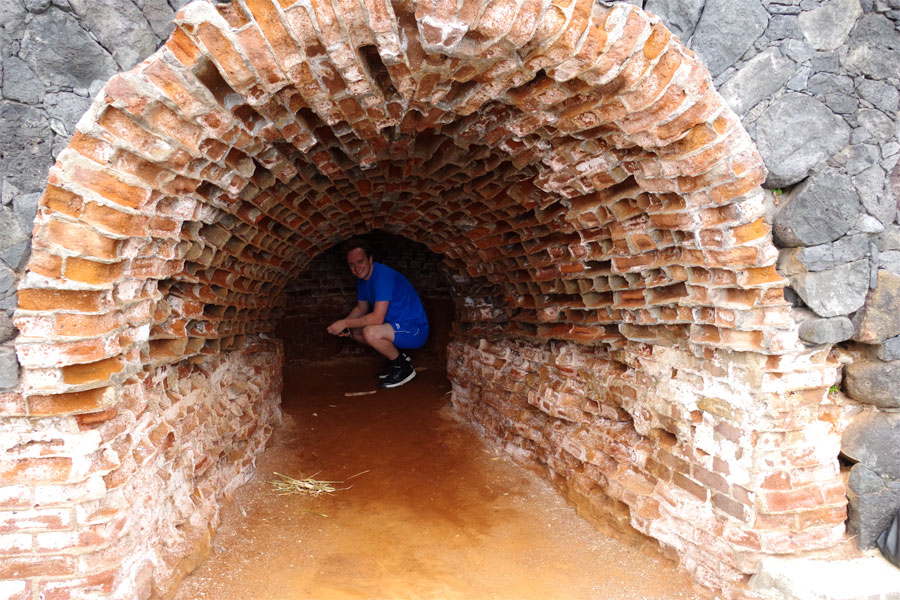 The entrance to the old lime kiln, San Andres, La Palma island