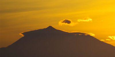 Sunrise behind Mt Teide on Tenerife