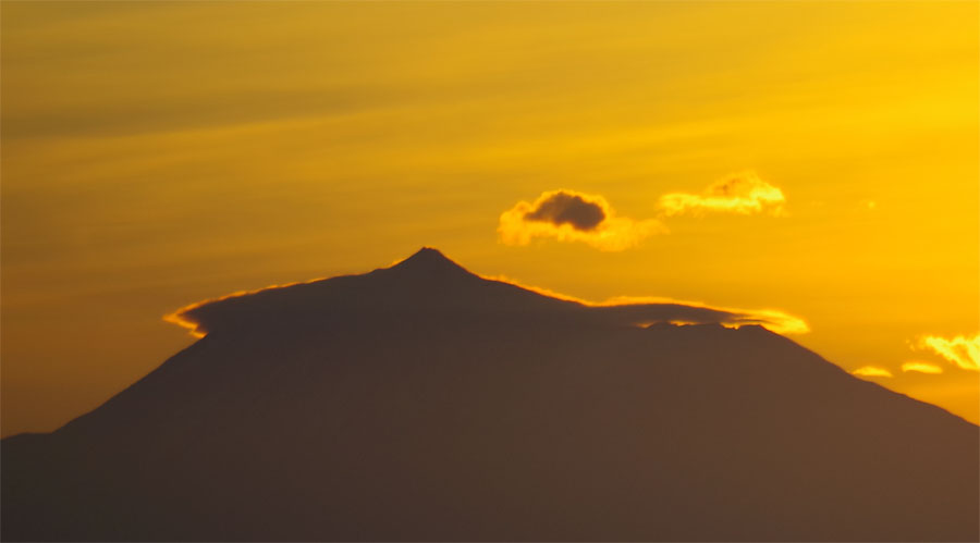 Sunrise behind Mt Teide on Tenerife